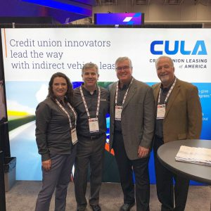 The CULA team at GAC. (l-r) Lindsay Ball, Marketing Manager. Ken Sopp, Chairman. John R. Thomas (CEO). Mark Chandler, VP of Business Development.